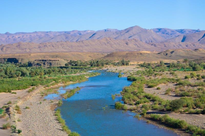 Río de Draa en Marruecos imagen de archivo