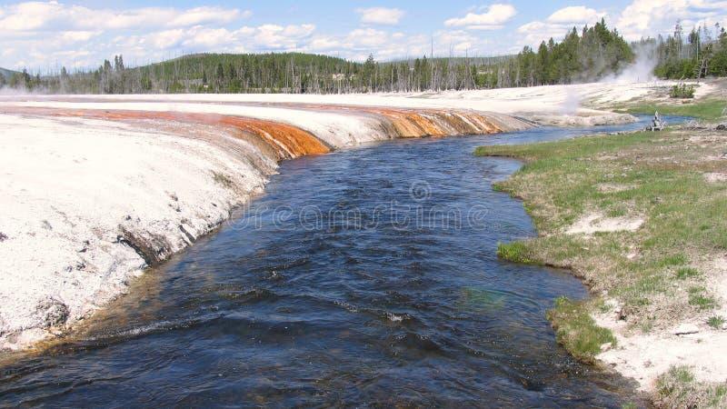 Río de Firehole, Yellowstone foto de archivo