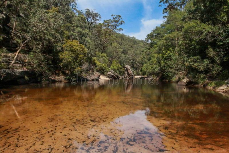 Río de Glenbrook imagenes de archivo