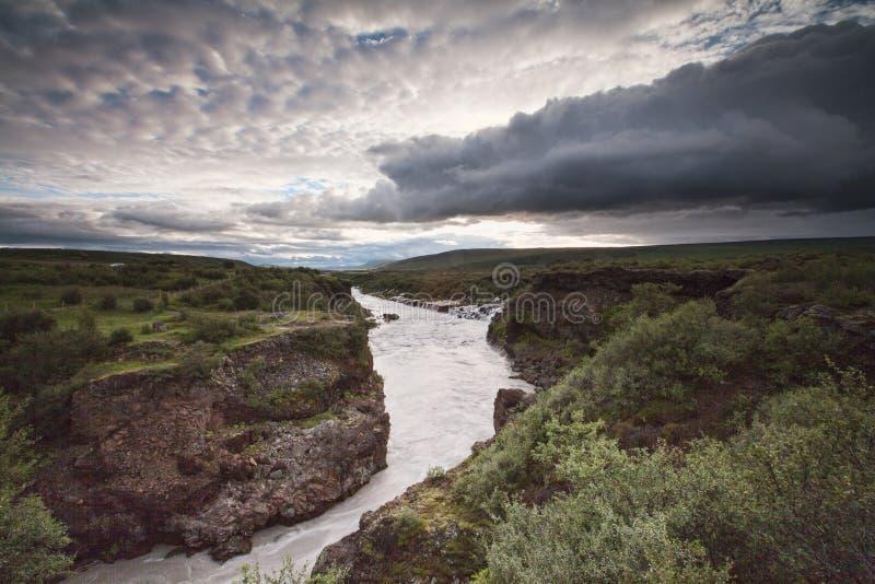 Río de Hvita, Islandia foto de archivo