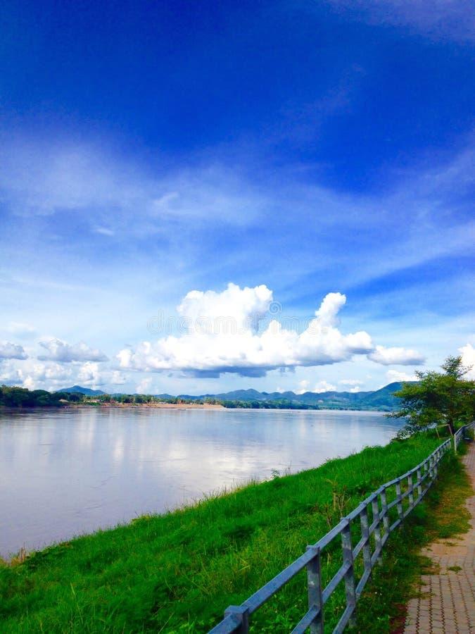 Río de Khong fotos de archivo