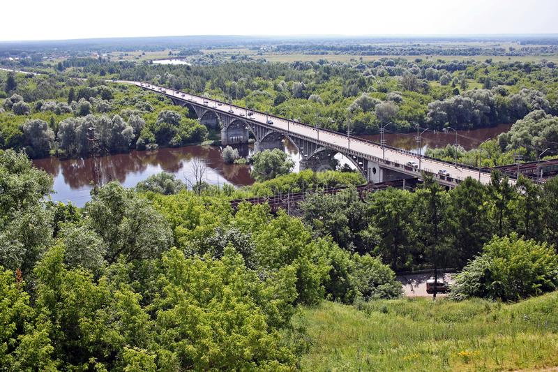 Río de Klyazma, Rusia foto de archivo