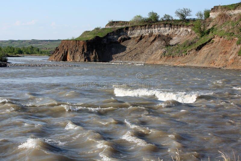 Río de Kuban fotos de archivo libres de regalías