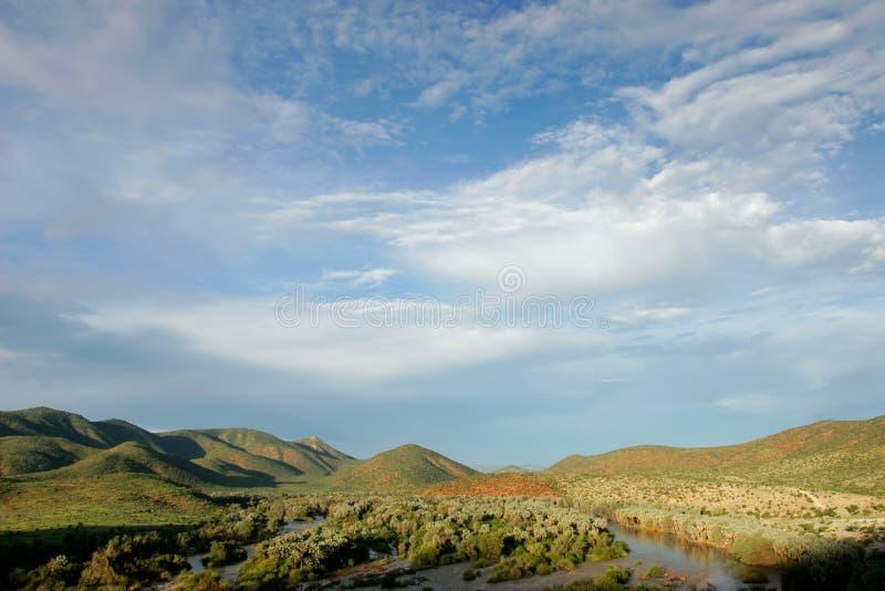 Río de Kunene, Namibia fotos de archivo libres de regalías