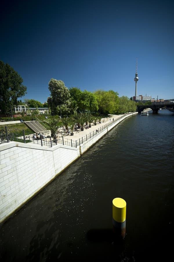 Río de la juerga de Berlín foto de archivo