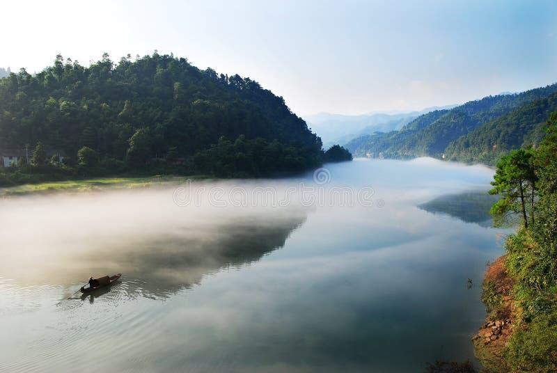 Río de la mañana imagen de archivo libre de regalías