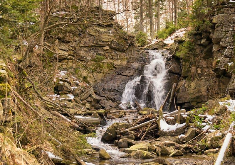 Río de la montaña en primavera temprana foto de archivo libre de regalías
