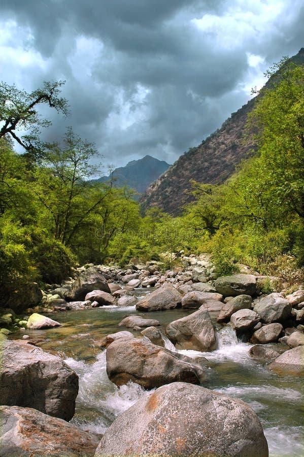 Río de la montaña, Himalaya imagen de archivo