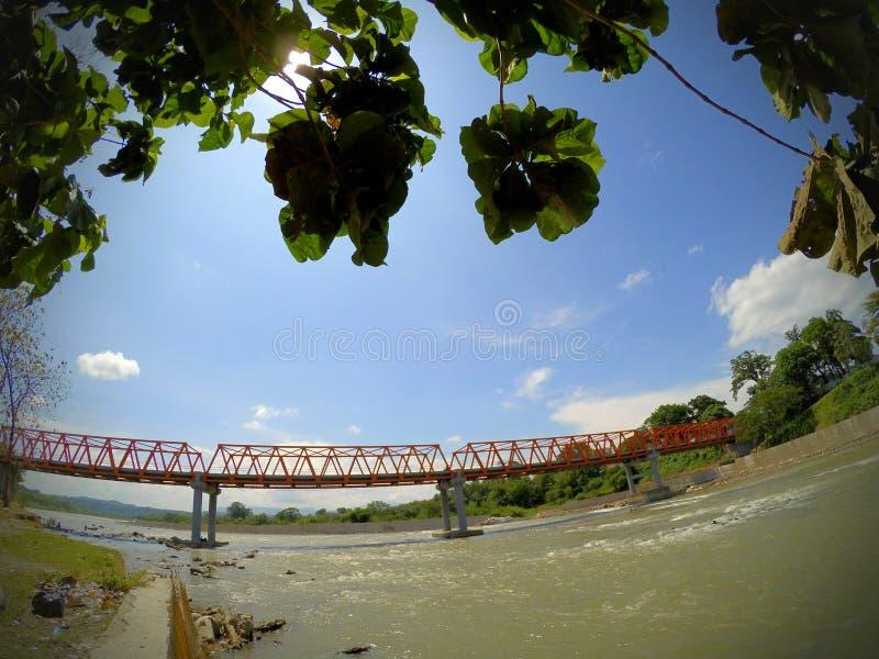 Río de Lematang foto de archivo