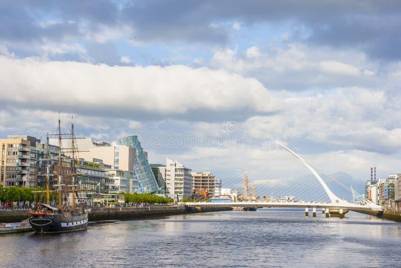 Río de Liffey en Dublín fotografía de archivo libre de regalías