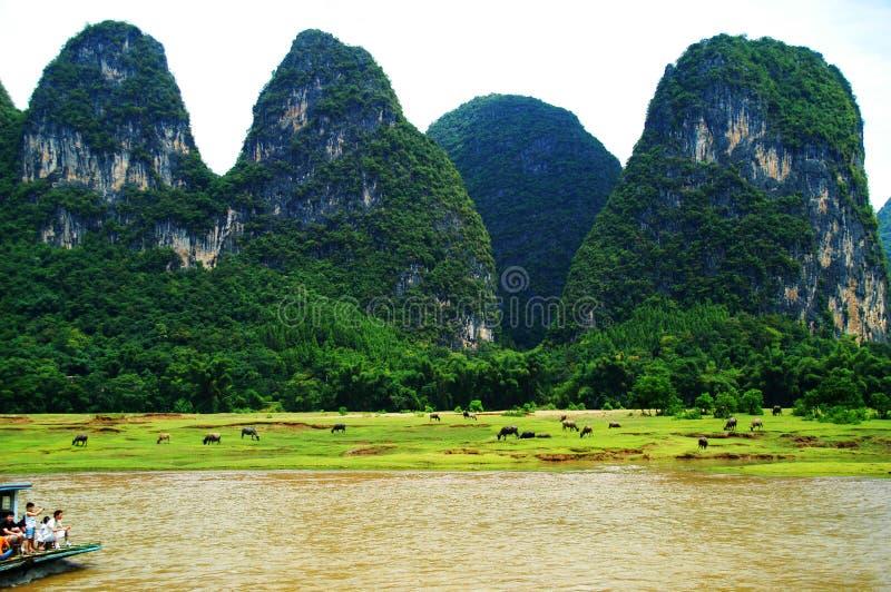 Río de Lijiang, Guilin, China fotos de archivo