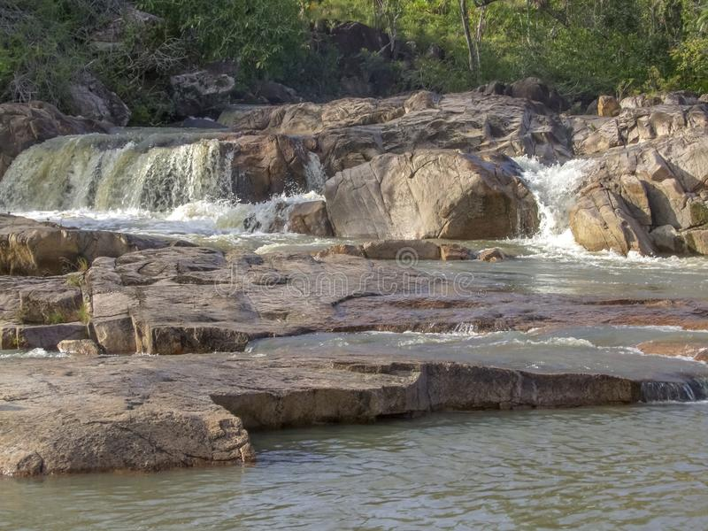 Río de Macal en Belice fotos de archivo