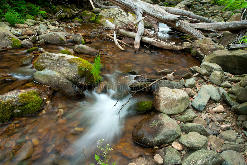 Río de madera en el parque nacional de Shenandoah imagen de archivo