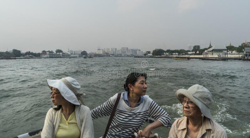 Río de Mae Nam Chao Phraya en Bangkok imagen de archivo libre de regalías