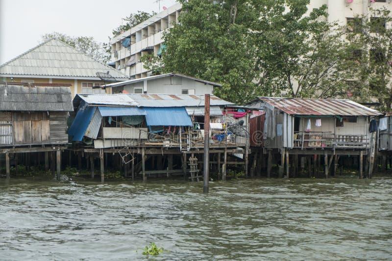 Río de Mae Nam Chao Phraya en Bangkok fotos de archivo libres de regalías