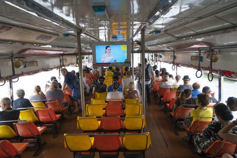 Río de Mae Nam Chao Phraya en Bangkok fotografía de archivo libre de regalías