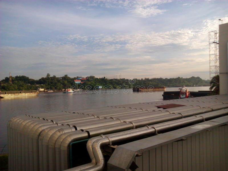 Río de Mahakam imagen de archivo