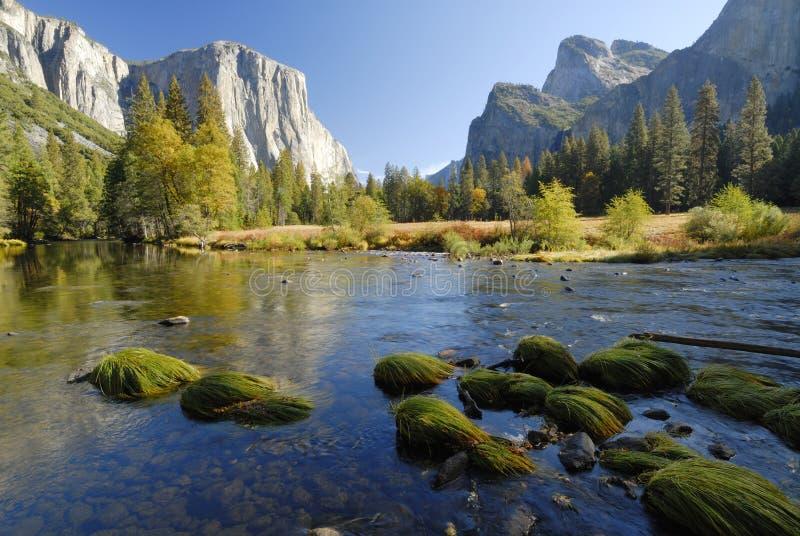 Río de Merced en el valle de Yosemite imagen de archivo libre de regalías