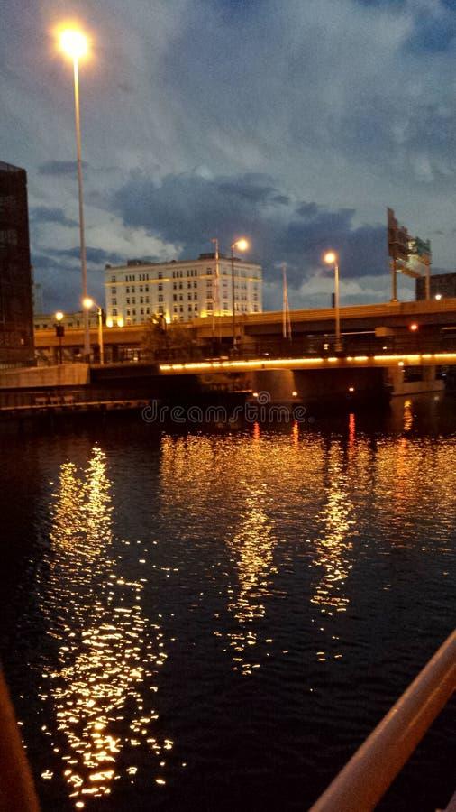 Río de Milwaukee imagen de archivo