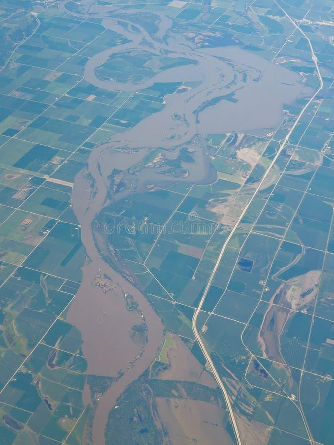 Río de Missouri imagen de archivo