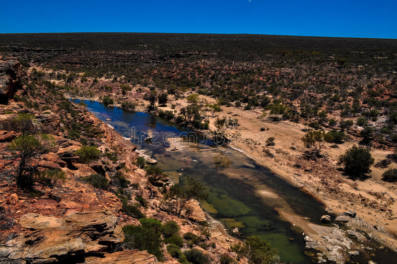 Río de Murchison foto de archivo