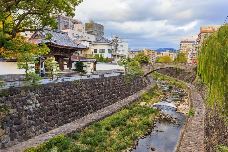 Río de Naka en Nagasaki fotos de archivo