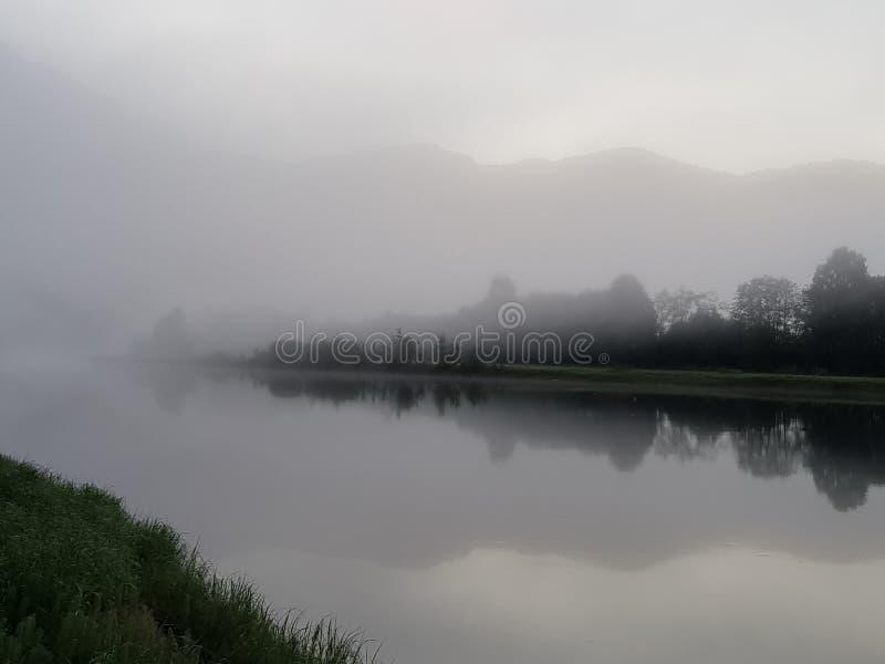 Río de niebla fotografía de archivo libre de regalías