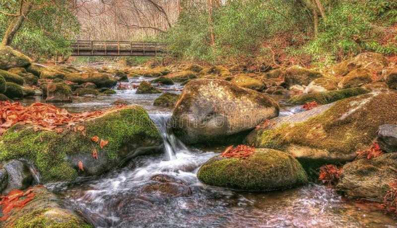 Río de Oconaluftee imagen de archivo libre de regalías