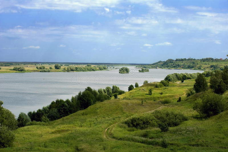 Río de Oka foto de archivo