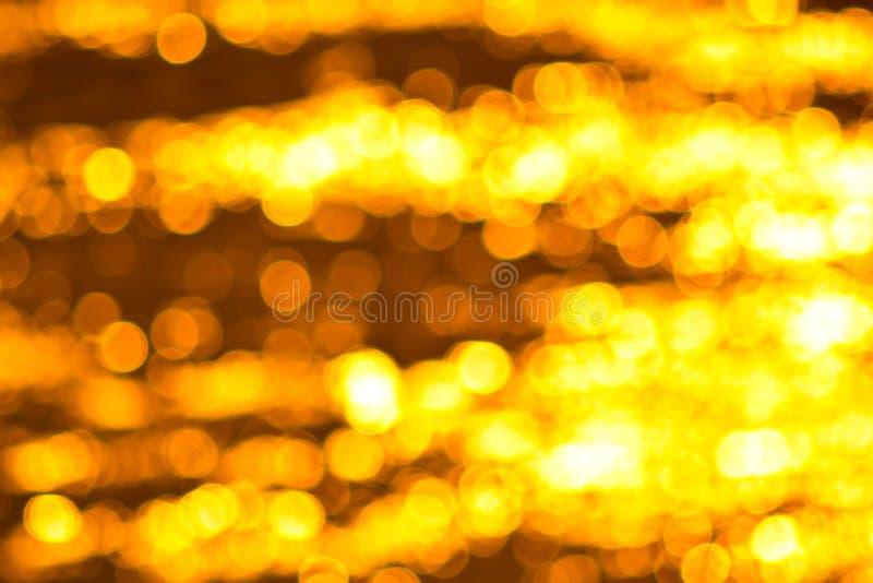 Río de oro con el bokeh imagen de archivo libre de regalías
