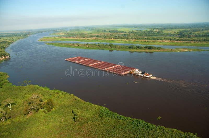 Río de Paraguay imagen de archivo