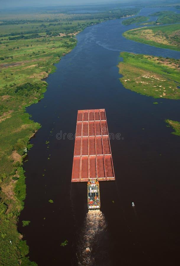 Río de Paraguay - mineral de hierro fotografía de archivo libre de regalías