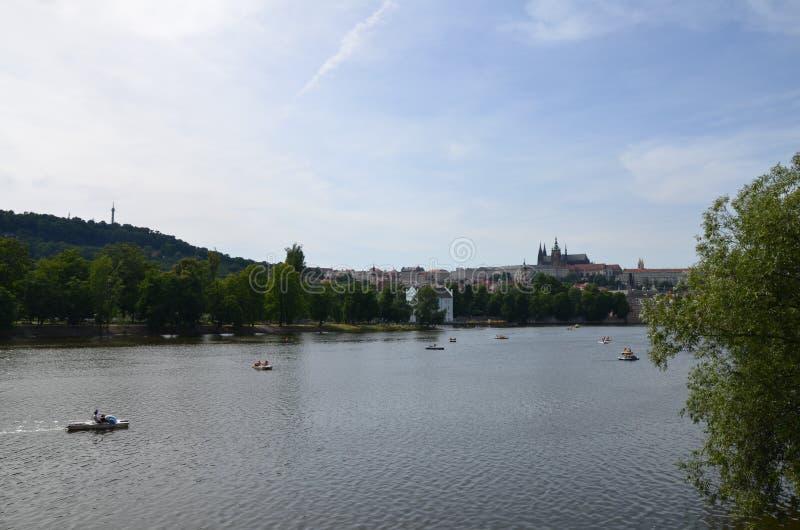 Río de Praga fotografía de archivo libre de regalías