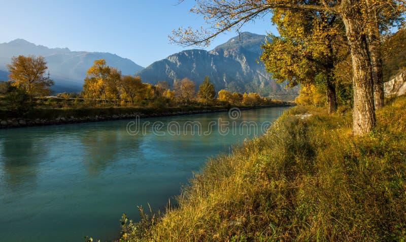 Río de Rhone II imagenes de archivo