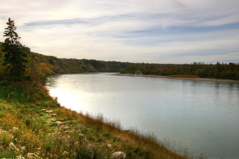 Río de Saskatchewan foto de archivo libre de regalías