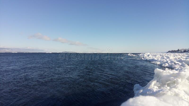 Río de St Laurent en invierno imagen de archivo libre de regalías