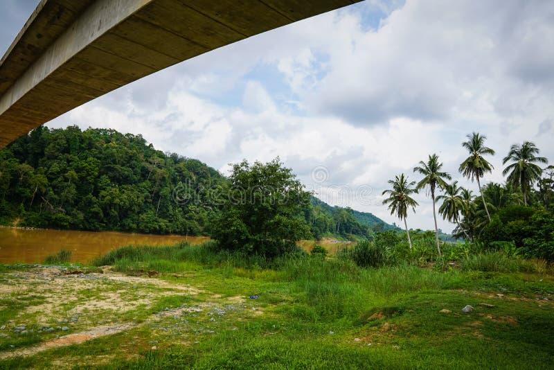 Río de Tembeling, Jerantut, Pahang foto de archivo