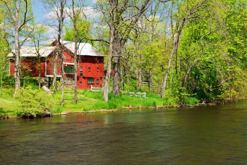 Río de Thornapple en Barry County imagen de archivo