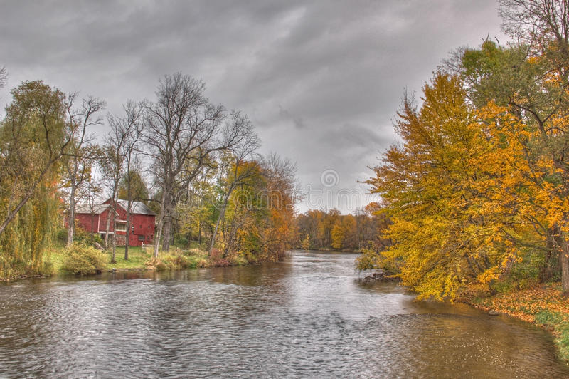 Río de Thornapple en Barry County fotos de archivo libres de regalías
