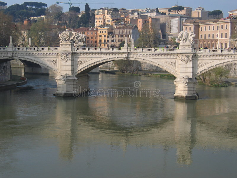 Río de Tiber imagenes de archivo