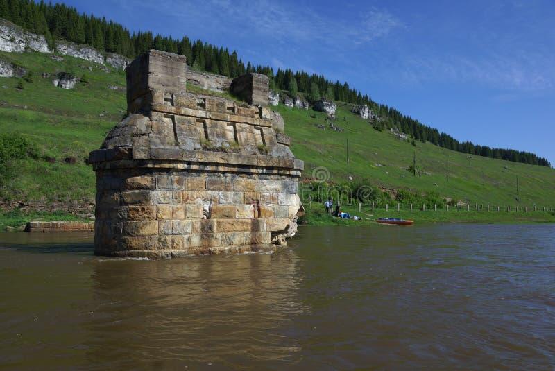 Río de Usva en la ondulación permanente Krai imagen de archivo