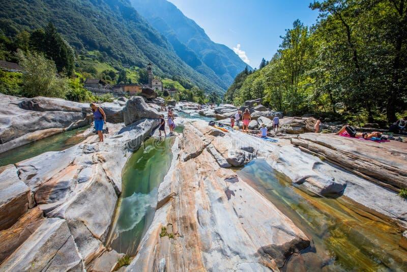 Río de Verzasca fotos de archivo libres de regalías