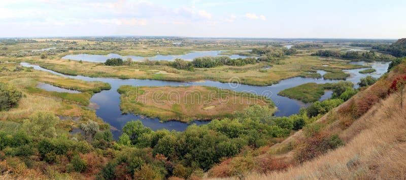 Río de Vorskla del delta fotografía de archivo