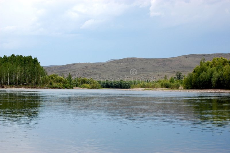 Río de Yenisey imagen de archivo libre de regalías
