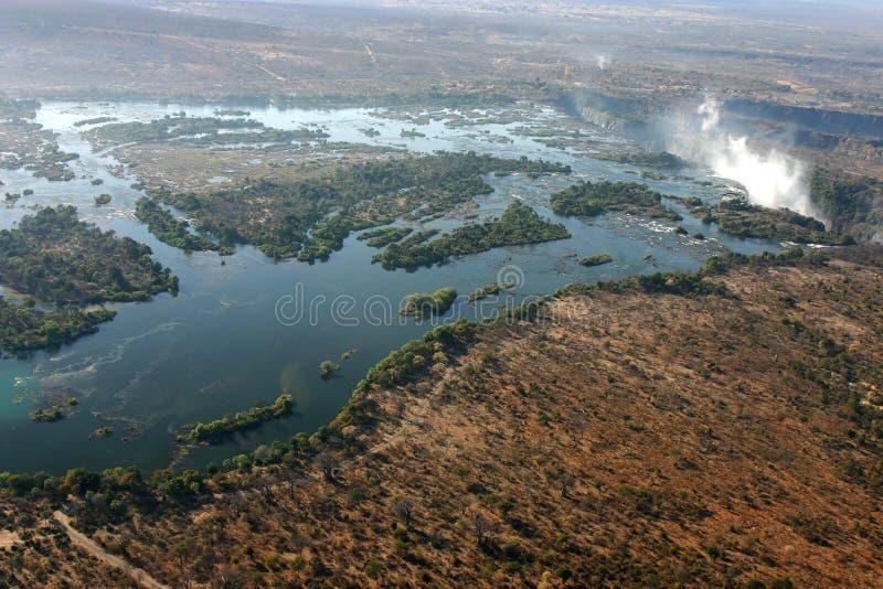 Río de Zambezi del cielo imagen de archivo