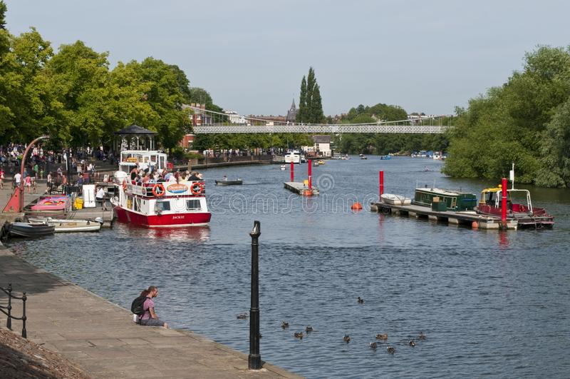 Río Dee, Chester, Cheshire, Reino Unido imagen de archivo libre de regalías