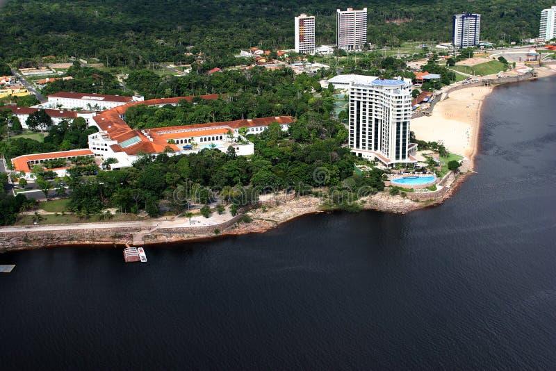 Río del Amazonas de la ciudad de Manaus el Brasil fotos de archivo libres de regalías