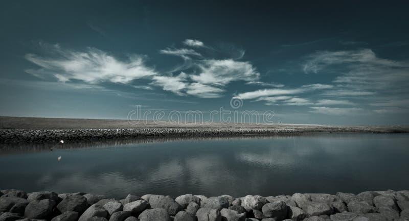 Río del azul danés imagen de archivo