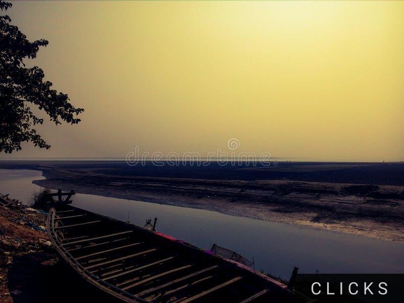 río del barco fotografía de archivo libre de regalías