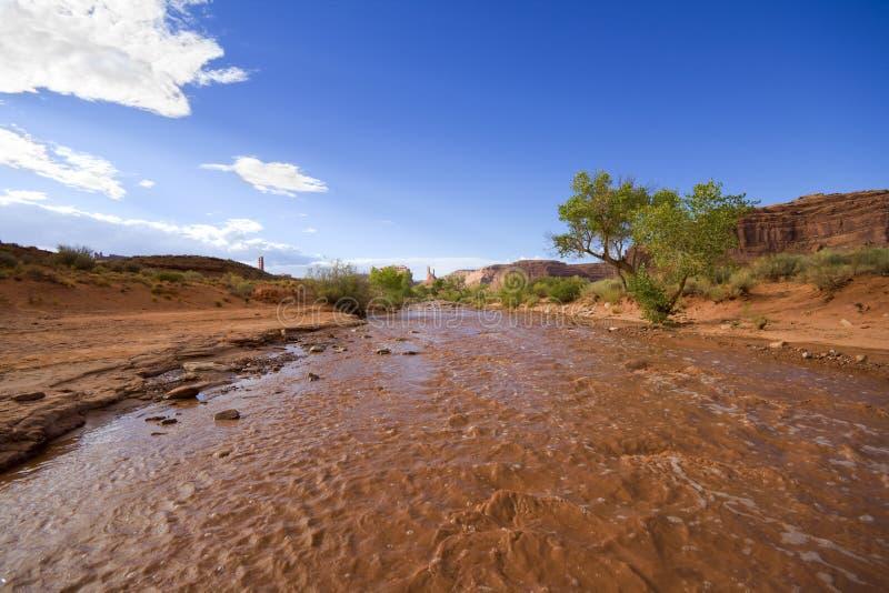 Río del fango imagen de archivo
